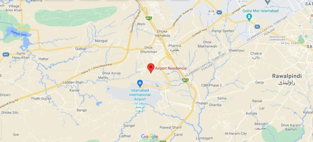 Location-Airport-Residencia-islamabad