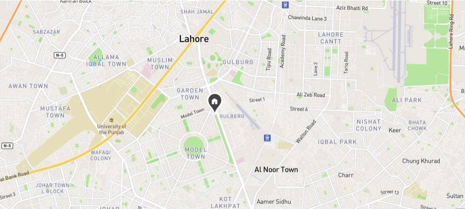 Location-Map-Residence-15-Gulberg-Lahore