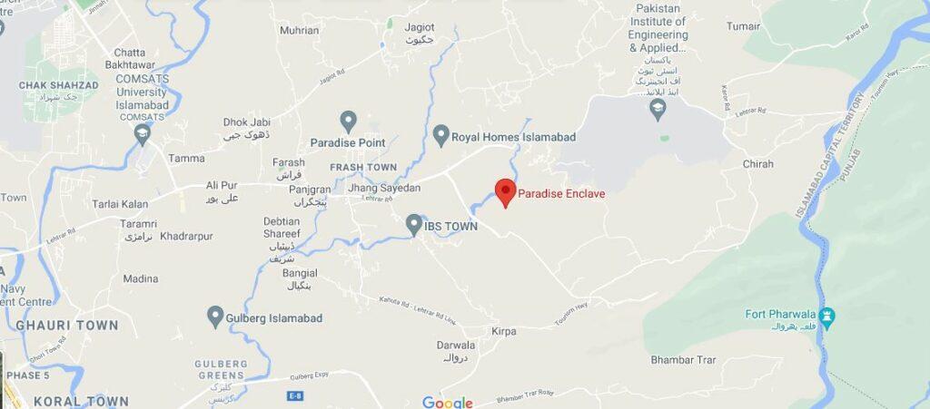 Location-Paradise Enclave Islamabad