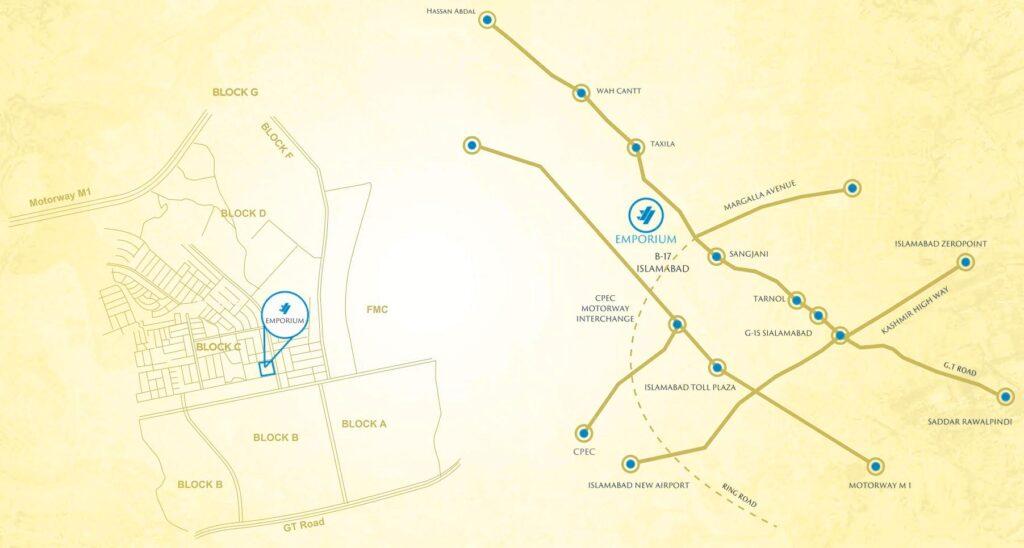 Location-map-J7-Emporium-Mall-Islamabad