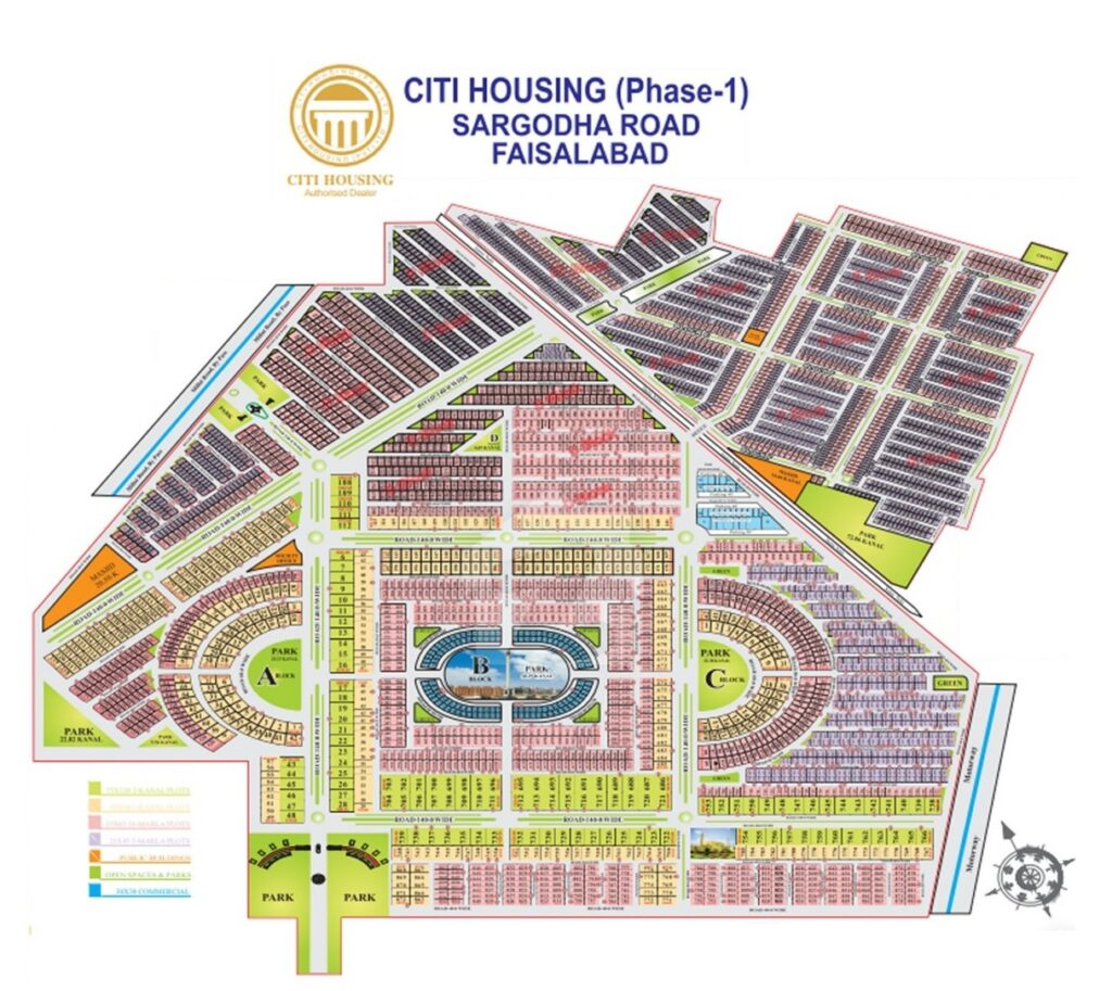Master-Plan-Citi-Housing-Phase-1-Faisalabad