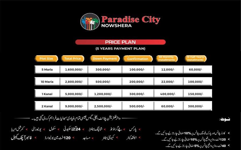 Payment-Plan-Paradise-City-Nowshera