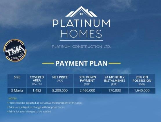 Payment-Plan-Platinum-Homes-Lahore