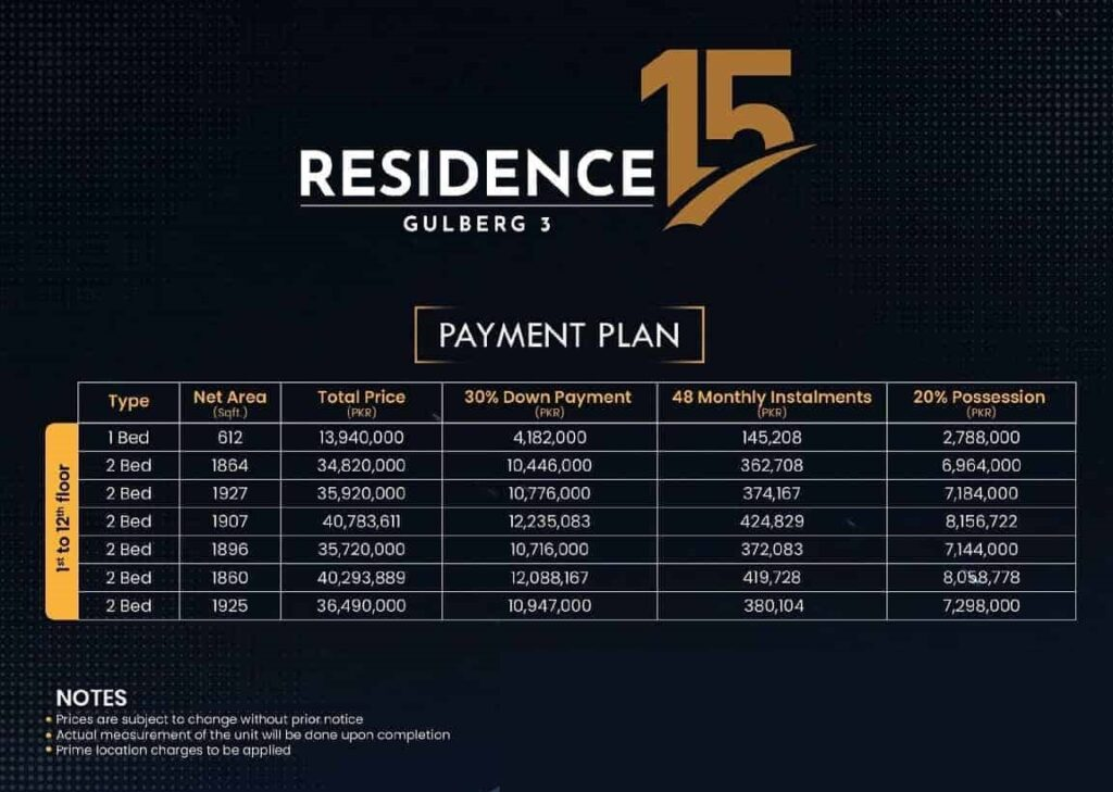 Payment-Plan-and-price-Residence-15-Lahore