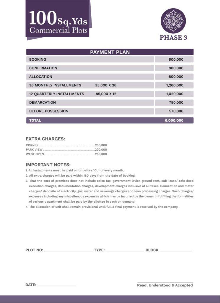 Payment-Schedule-100-sq-yard-commercial-plot-Gohar-Villas-Phase-3