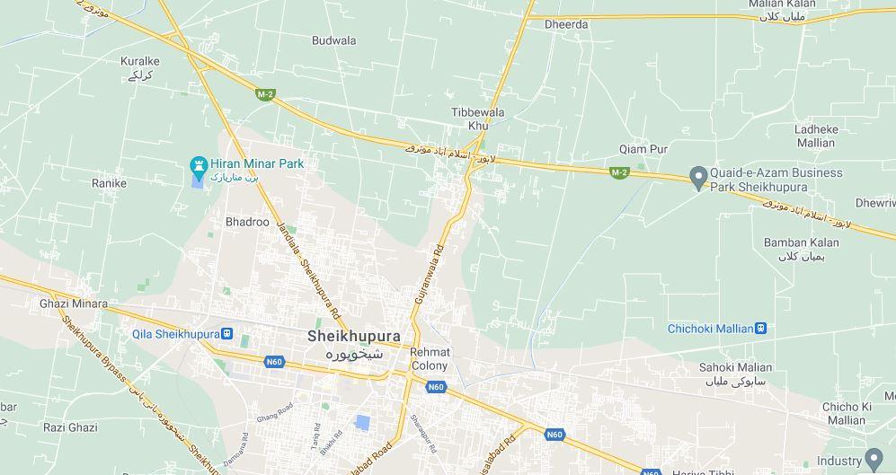 location-map-Al-Baari-Residencia-Sheikhupura