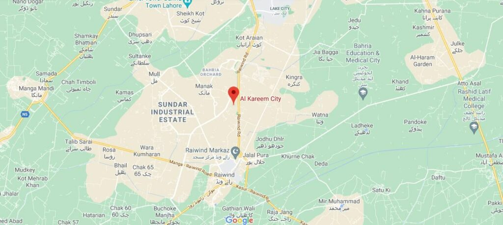 Location-Al-Kareem-City-Lahore