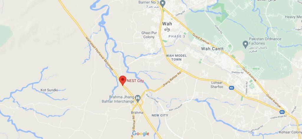 Location-NEST-City-Wah-Taxila
