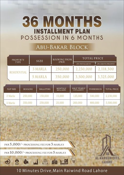 Residential-Plot-Payment-Plan-Al-Kareem-City-Lahore